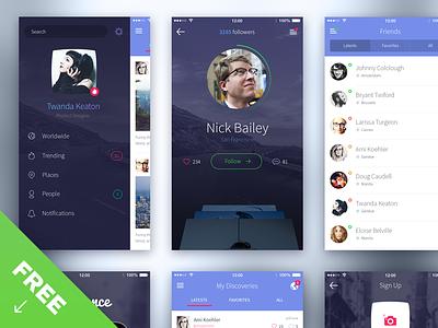 iPhone 6 UI - Free iphone6 psd download ui kit menu design ux ui kit freebie free ios