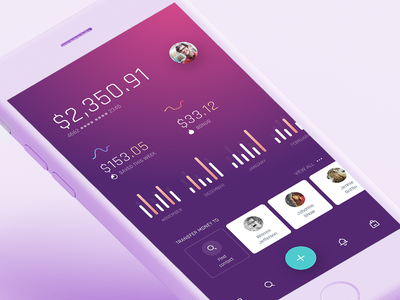 Account stats ui stats sketch preview pheonix ios kit interaction free flat design app design