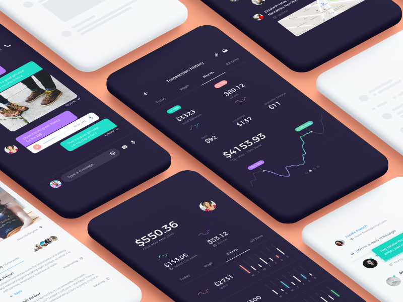 Atro Mobile UI Kit [preview] ux icons material interaction design flat ios free sketch preview kit ui