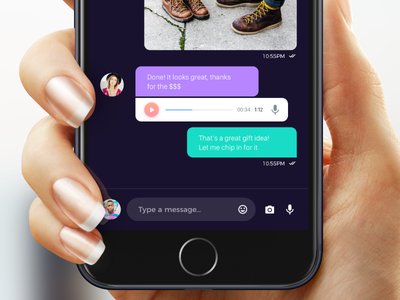 Atro Mobile UI Kit - Chat ux icons material interaction design flat ios free sketch photoshop kit ui