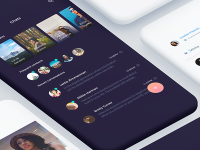 Atro Mobile UI Kit [preview] clean psd ux icons material interaction design flat ios sketch ui