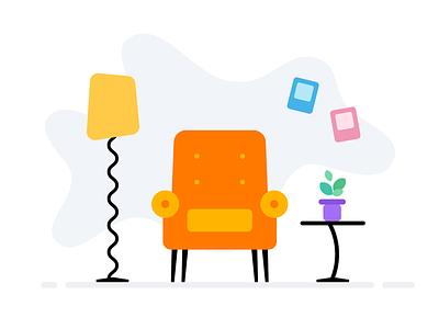 Simple Illustration #2 light simple flat illustration ui ux design mobile orange android icon product