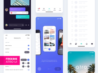 Atro Mobile UI kit (Freebie)