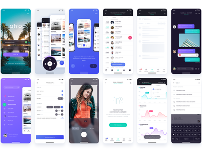 Atro Mobile UI kit (Freebie) madewithadobexd flat android vector design interaction figma xd adobe ux ui kit ui8 ui sketch mobile ui kit mobile ios app free freebie