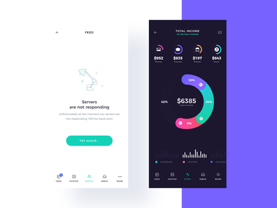 Income Visualization empty states budget empty state chart data analytics creativemarket figma xd interaction ux ui kit ui8 ui sketch project mobile ui kit mobile ios atro app