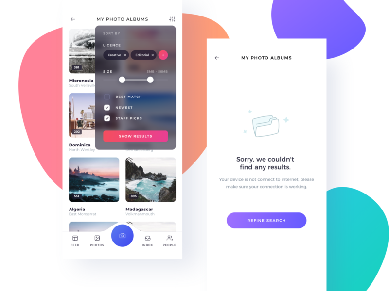 My Photo Albums by Adrian Chiran on Dribbble