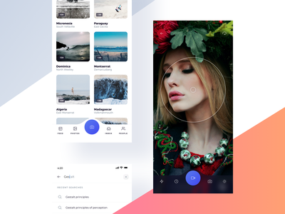 Viewfinder search gallery photo video camera viewfinder figma xd interaction ux ui kit ui8 ui sketch project mobile ui kit mobile ios atro app
