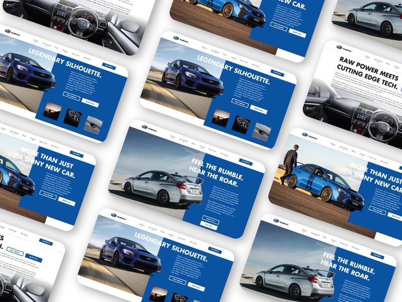 Subaru WRX STI Website UI (desktop) vector website subaru wrx sti app web ui ux design concept branding