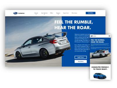 Subaru WRX STI Website UI (desktop + Mobile scroll) wrx website subaru sti app web ux ui design concept branding