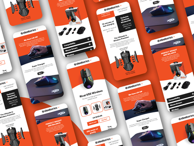 Steelseires App Design (Rival 650 wireless) mousecrafted games computer mouse pc steelseries website app web ui ux design concept branding