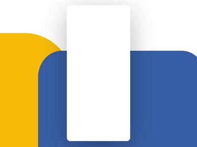 Bank of Queensland App UI Mockup Animated Process yellow blue banking app queensland bank vector website app web ux ui design concept branding