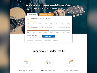 Loan Site Concept minimal finance financial homepage money loan landing website