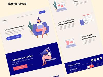 Landing page for epush company blog figma uiux product page company website web designer webdesign web