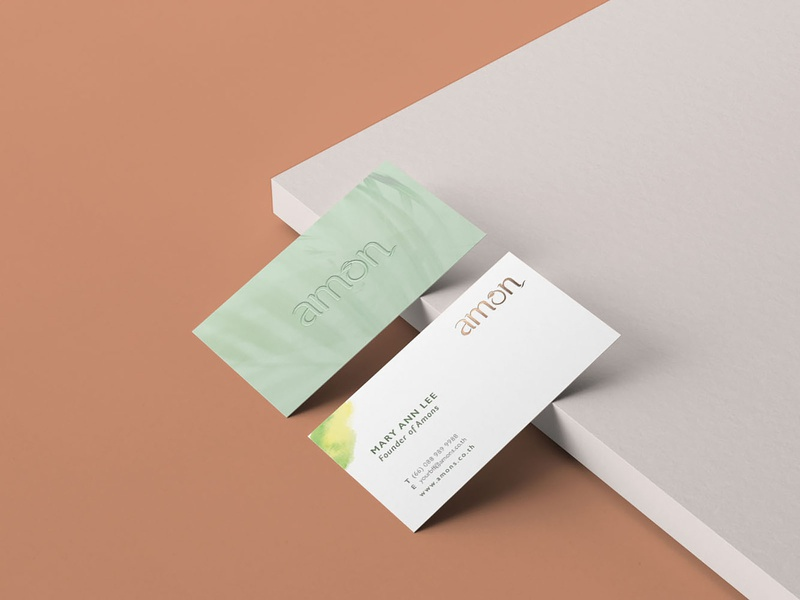 Business Card eco natural collateral design design collaterals business card branding
