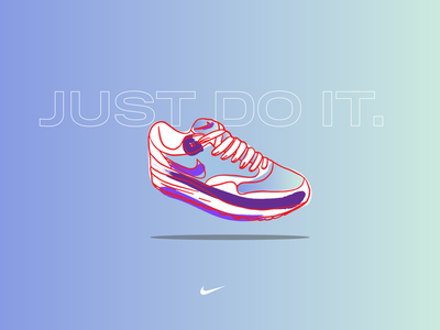 air max collection 01 vector typography vibrant color procreate ipadpro illustration design