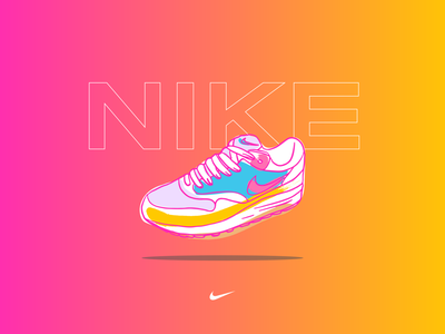 air max collection 04 minimal adobe illustrator vector typography art vibrant color procreate ipadpro illustration design