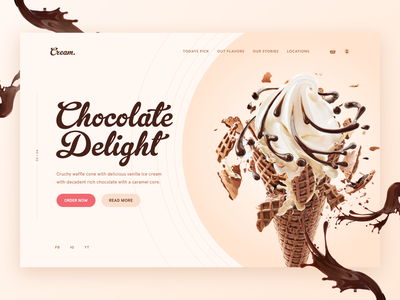 Ice Cream UI / UX Landing Page Concept landingpage ice cream web web design brand design graphic design uiux ui ux interface