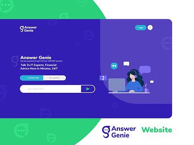 Answergenie Web! website web portal modern help free answering web design