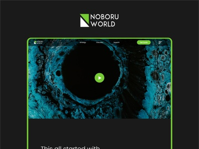Noboru World minimalist inspiration webdesign modern website design digital agency