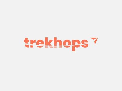 trekhops logo illustration booking logo modern