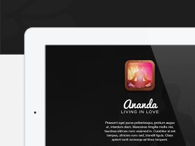 Ananda microsite music microsite landing page mobile app meditation