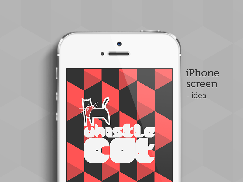 Iphone screen iphone splash screen mobile cat typography
