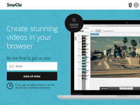 SnapClip landing page