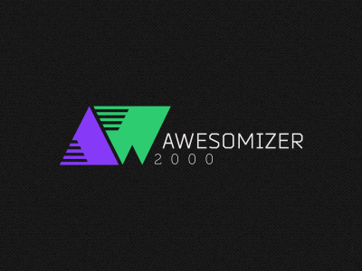 Awesomizer 2000 logo concept identity video media