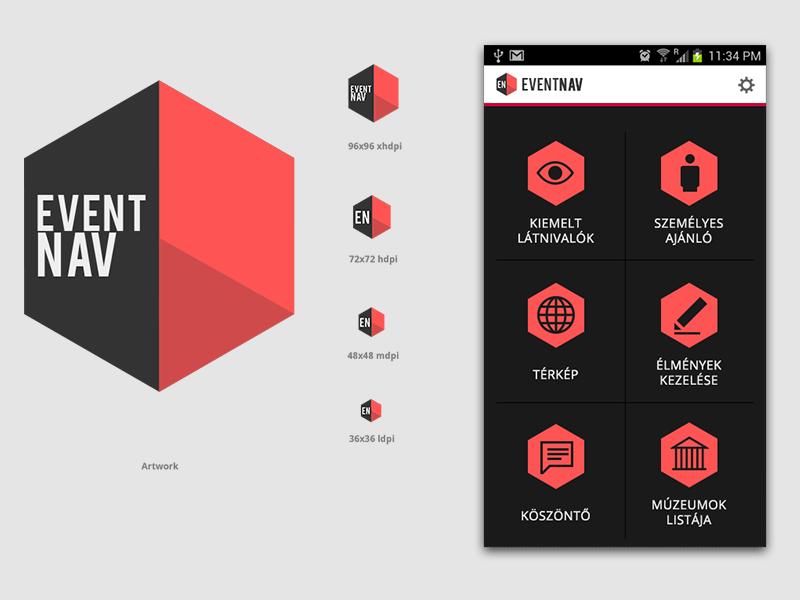 Eventnav logo concept logo concept identity android icon menu