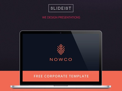 Free Corporate  Powerpoint Template By Ragakata  Dribbble