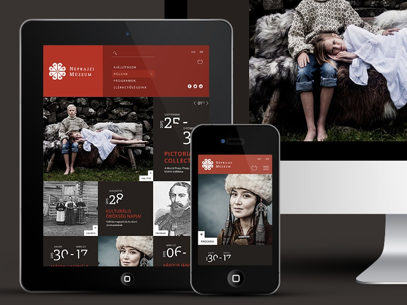 Ethnography Museum // Redesign concept psd free responsive redesign museum