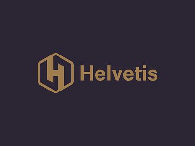 Helvetis h branding logo minimal