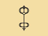 The Key illustration vector branding simple symbol logo