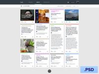 Free Newsfeed App PSD