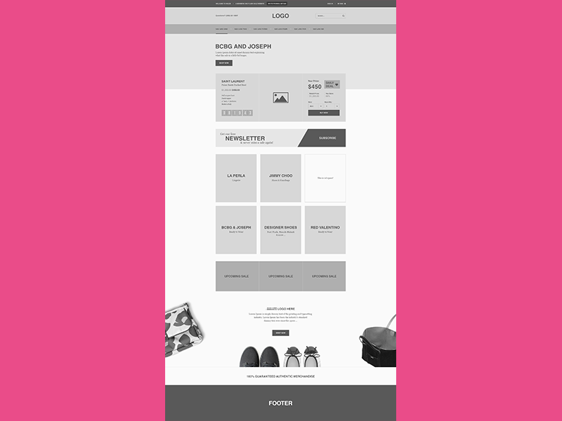 WIP ecommerce Wireframe  ecommerce shopify wireframe ui ux explore shop sale fashion