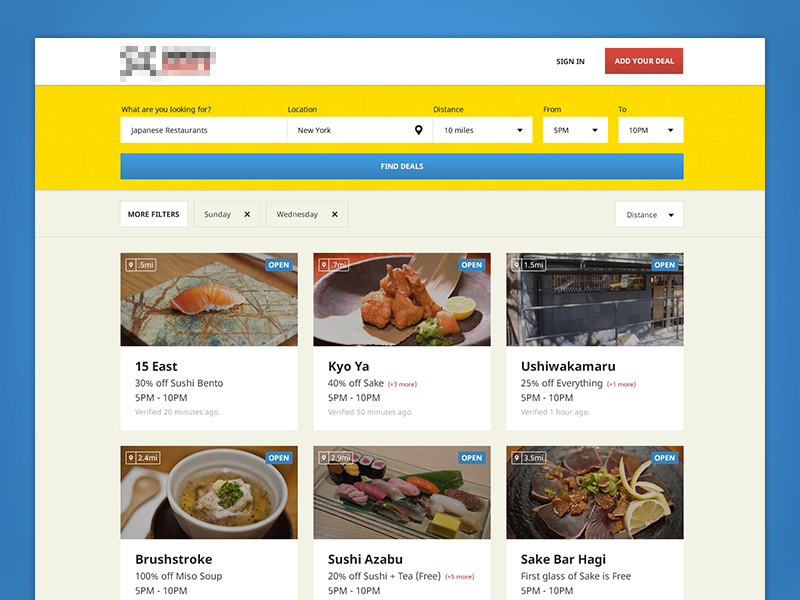 Search Results results search daily deals food drinks simple clean