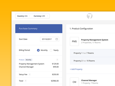 Product Configuration Portal cart shopping purchase clean user interface ux ui