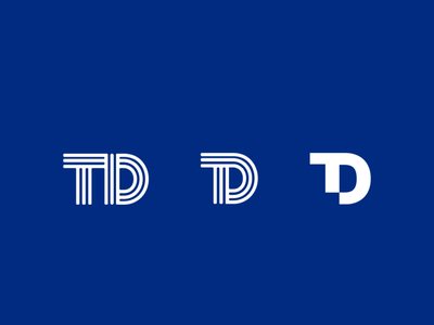 TD logo clean simple monogram brand logo