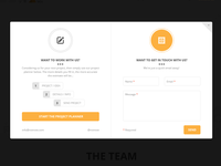 Clean modal contact window