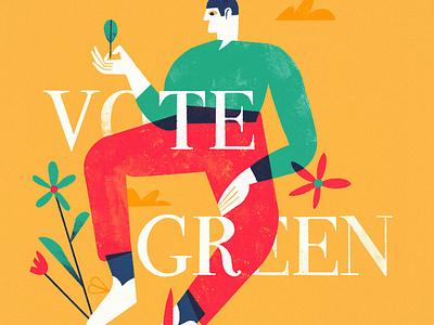Vote flowers ecofriendly nature leaf green vote