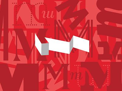 MMMMMMMMural murals office typography red wallart typeface m mural