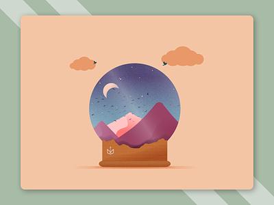 Wonderful Land designer flayer illustration branding design design poster graphic design