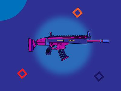 Guns are not the problem. scary gunshot cute design rifle illustrator game pubg mobile scarl pubg guns
