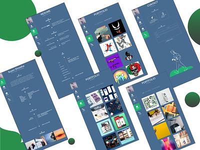 Portfolio Design Web ui ux website builder webdesign your portfolio web design website web