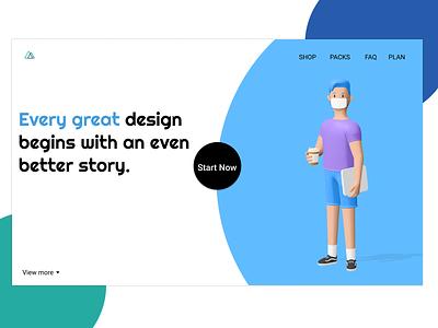 Every design start with better story. ui design websites idea website concept illustrator home page website life uidesign uiux ui