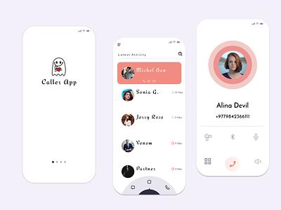 CALLER APPLICATION development idea cute love portfolio new design lifestyle application uiux ui design