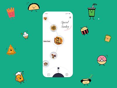 Food Application Home ui  ux lifestyle concept uidesign design photoshop lifestyle illustration hope you like this life ui design uiux ui