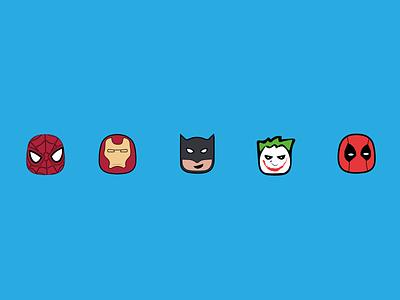 SuperHeros Emoji Character lifestyle concept design art uiux ui life illustrator design