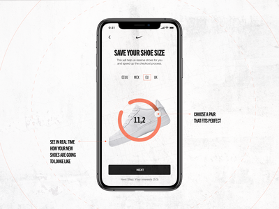 Nike - Insider Experience mobile concept nike mockup app interaction grid typography layout ui design