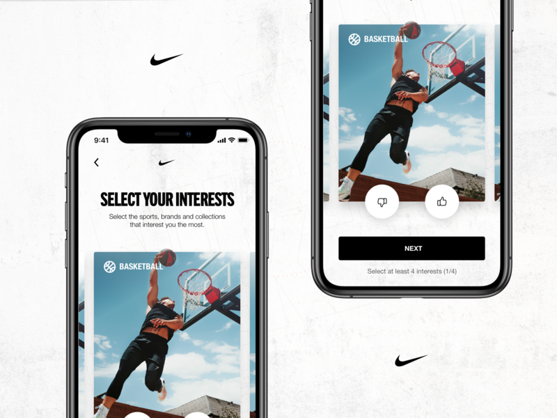 Nike - Insider Experience concept mobile nike mockup app interaction grid clean layout ui design